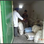 Sorting of raw material of herbs in raw material section of Dr. Asma Herbals Factory